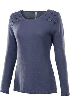 Shoptiques Product: Blue Studded Sweater