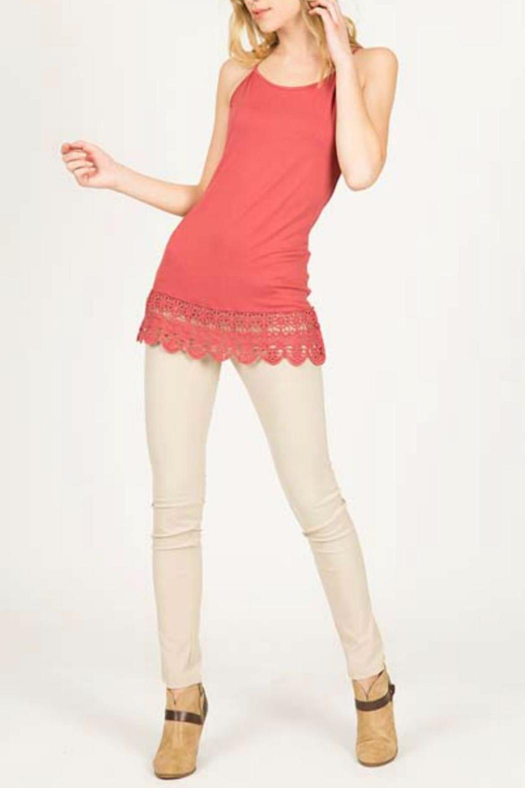 Monoreno Cami Crochet Dress - Front Cropped Image