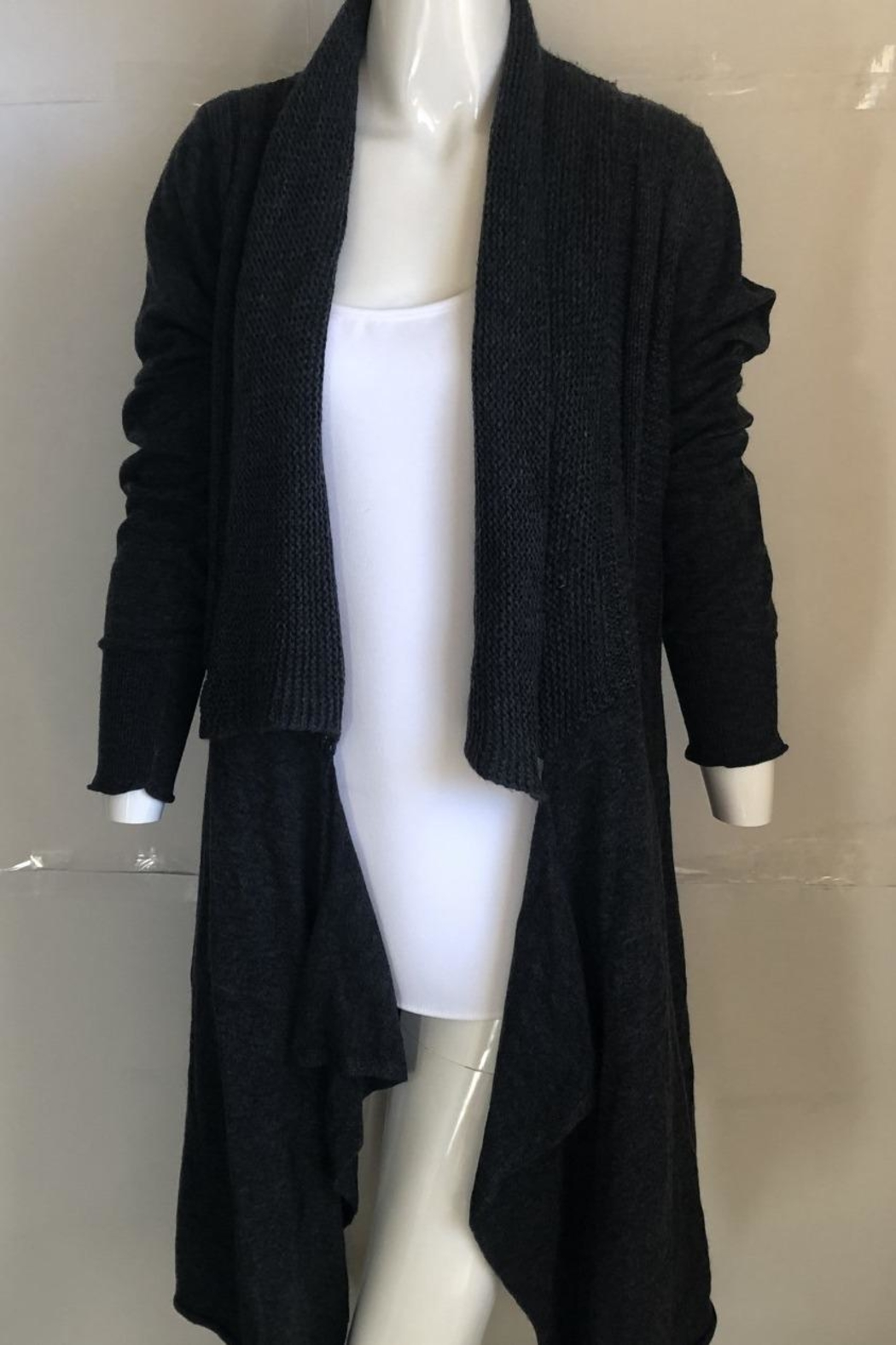 Monoreno Charcoal Knit Cardigan - Main Image
