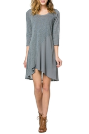 Monoreno Contrast Drape Dress - Front cropped
