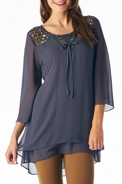 Shoptiques Product: Crochet Chiffon Tunic