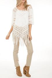 Monoreno Crochet Fringe Top - Product Mini Image