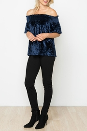 Monoreno Crushed Velvet Top - Product Mini Image