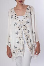 Monoreno Embroidered Kimono - Product Mini Image