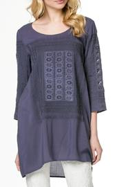 Monoreno Embroidered Tunic Top - Product Mini Image