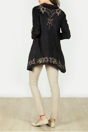 Monoreno Faux Suede Cardigan - Side cropped