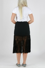 Monoreno Fitted Fringe Skirt - Side cropped