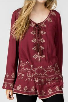 Shoptiques Product: Long Embroidered Top