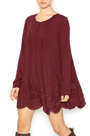 Shoptiques Product: Marsala Pin Tuck Tunic