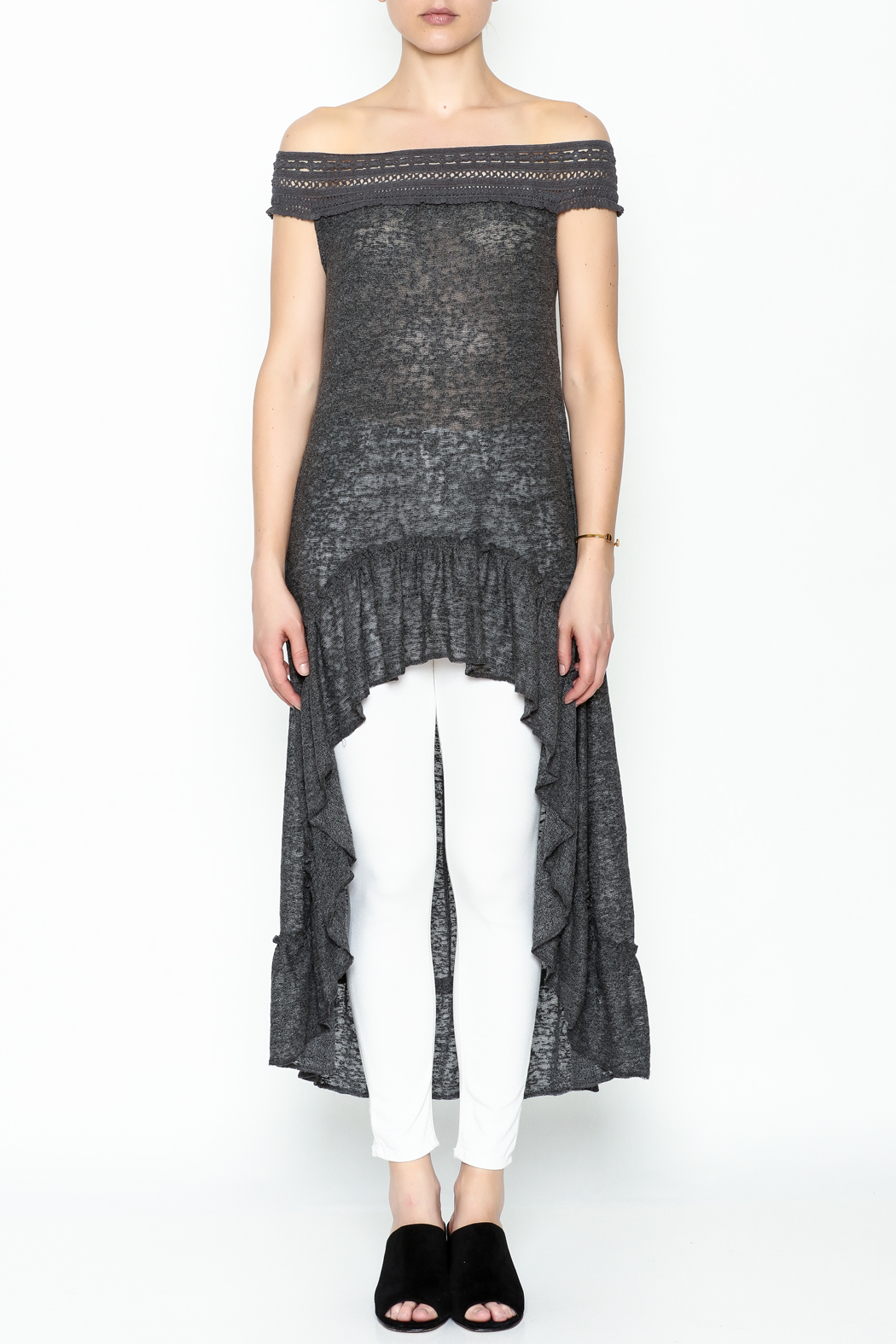 Monoreno Off Shoulder Tunic - Front Full Image