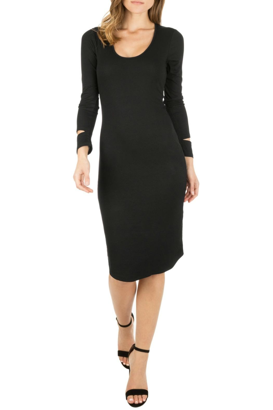 Monrow Cut Out Cuff Dress - Main Image