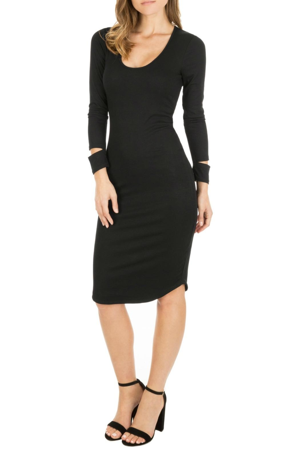 Monrow Cut Out Cuff Dress - Side Cropped Image