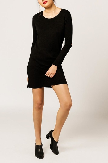 Monrow Elbow Cut Out Dress - Main Image