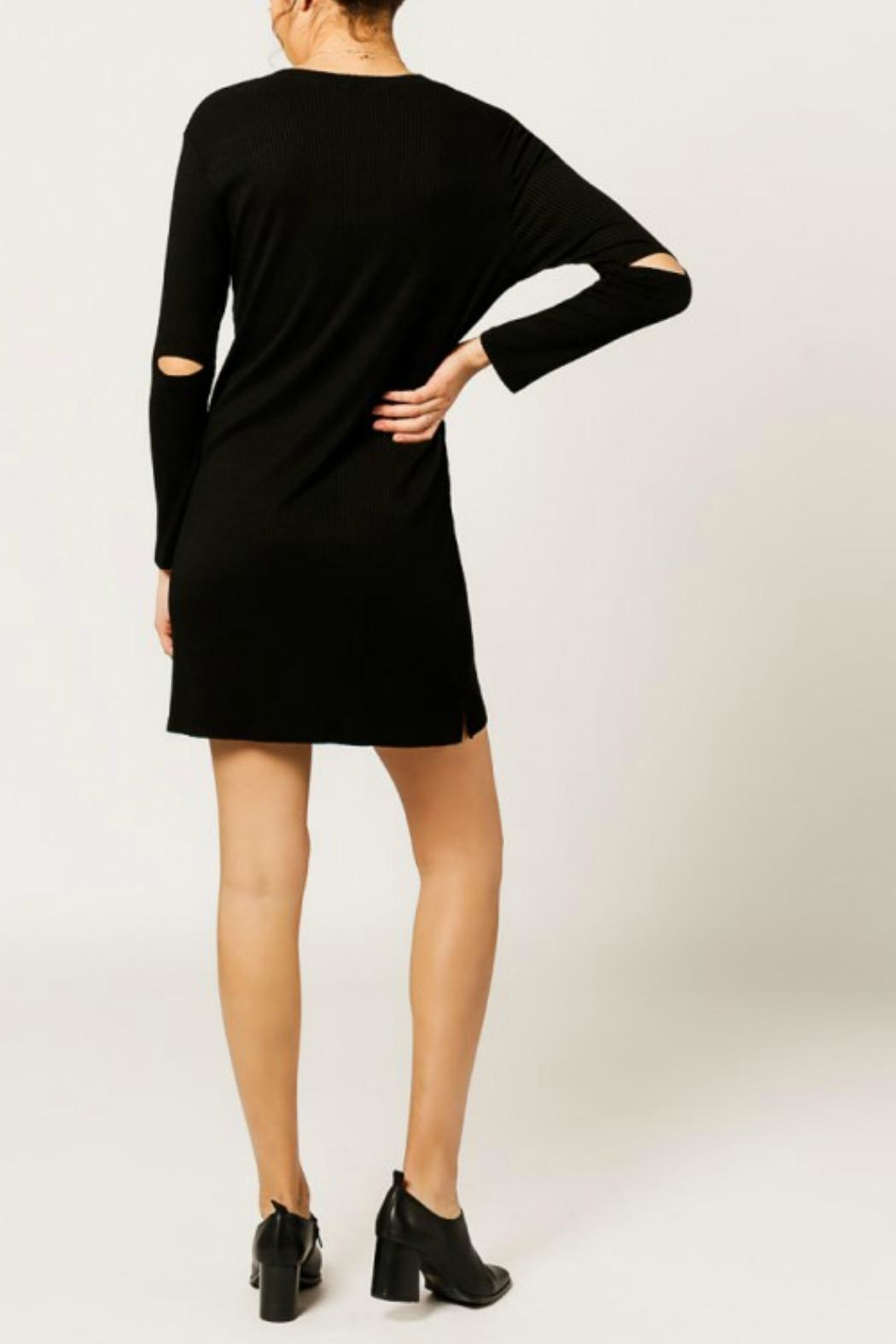 Monrow Elbow Cut Out Dress - Front Full Image