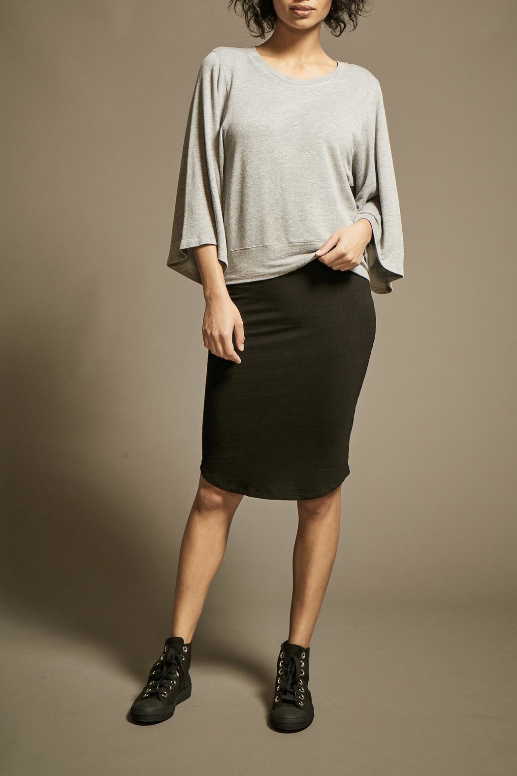 Monrow Fine Knit Pencil-Skirt - Front Cropped Image