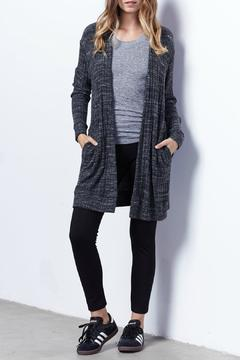 Monrow Knit Ribbed Cardigan - Product List Image