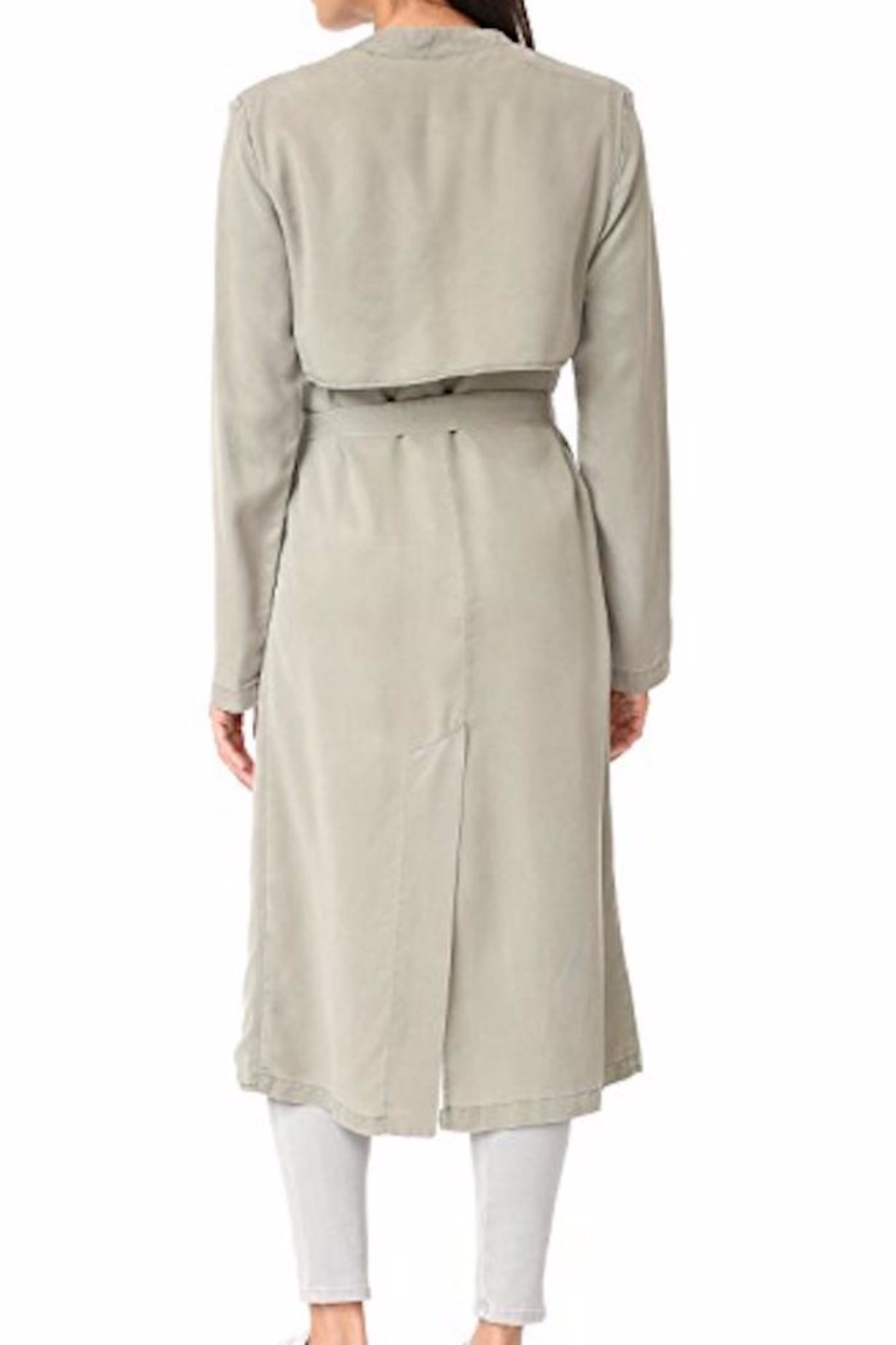 Monrow Trench Coat - Side Cropped Image
