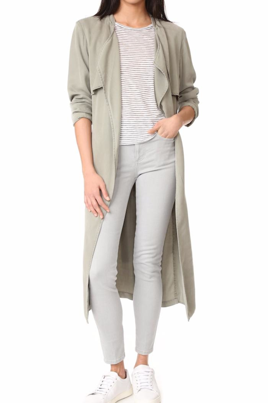 Monrow Trench Coat - Front Cropped Image