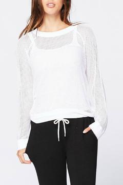 Shoptiques Product: Open Mesh Sweatshirt