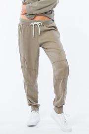 Monrow Patch Sweatpants Green - Product Mini Image