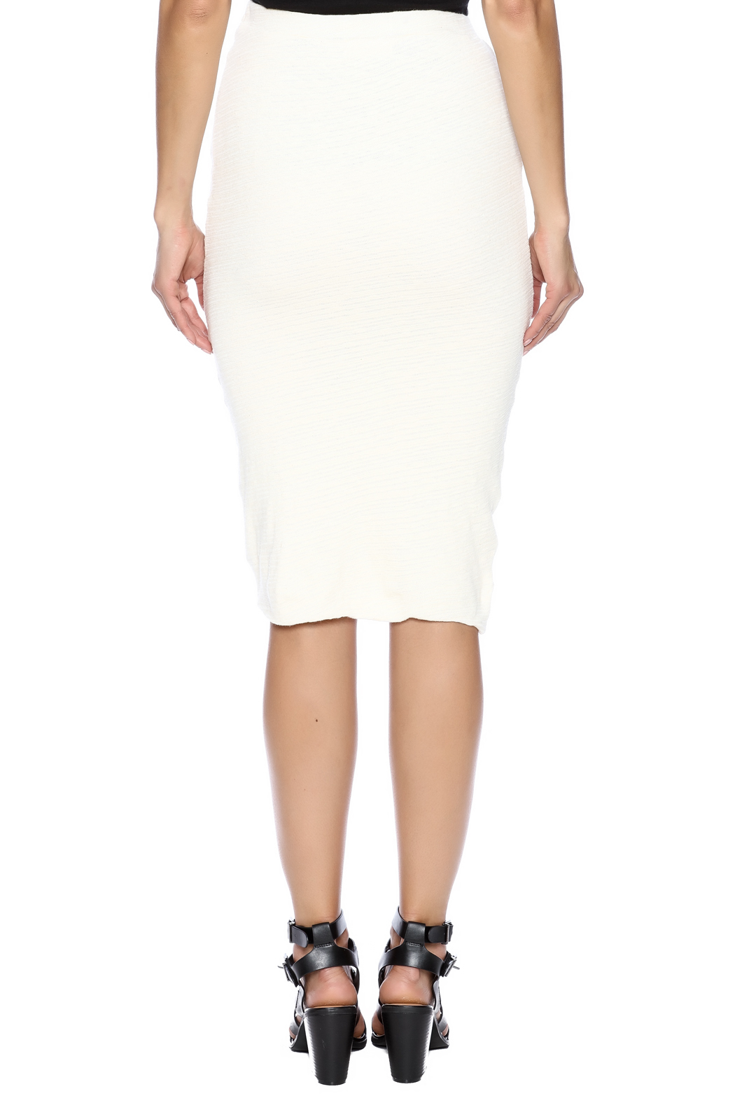 monrow slub pencil skirt from new jersey by seagrass