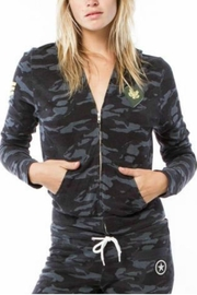 Monrow Vintage Camo Hoody - Front cropped
