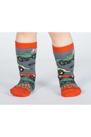 Sock it to me Monster Truck Toddler Knee High Sock - Product Mini Image