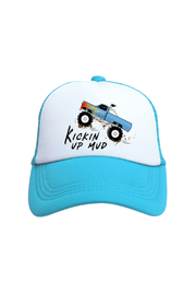 Tiny Trucker Monster Truck Trucker Hat - Front cropped