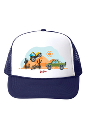 Bubu Monster Trucks Navy Trucker Hat - Product Mini Image