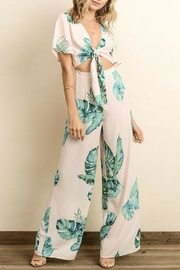 dress forum Monstera Cutout Jumpsuit - Product Mini Image