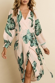 dress forum Monstera Leaf Midi - Front cropped