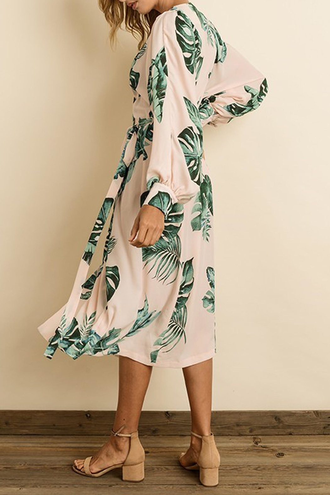 dress forum Monstera Leaf Midi - Side Cropped Image