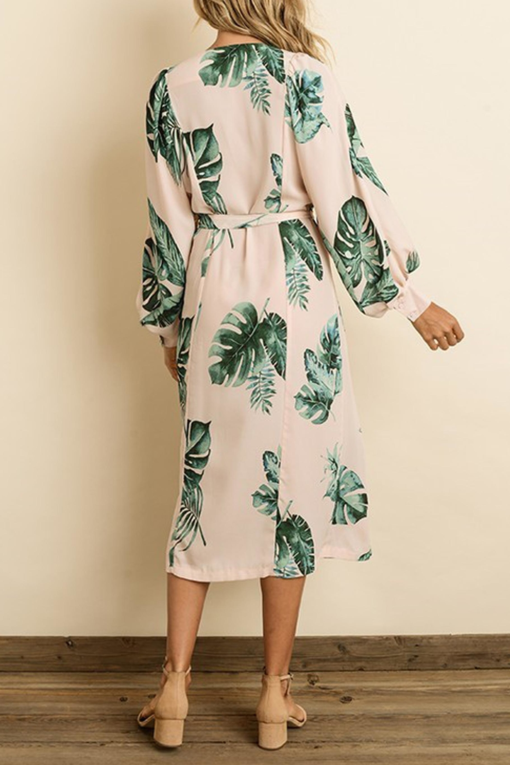 dress forum Monstera Leaf Midi - Back Cropped Image
