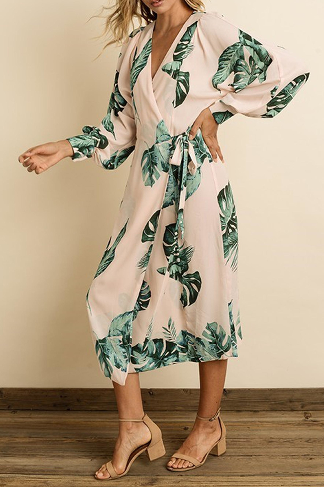 dress forum Monstera Leaf Midi - Front Full Image