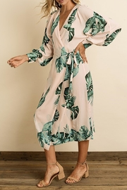 dress forum Monstera Leaf Midi - Front full body