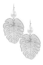 Art Box Monstera Pearl Drop Earring - Product Mini Image