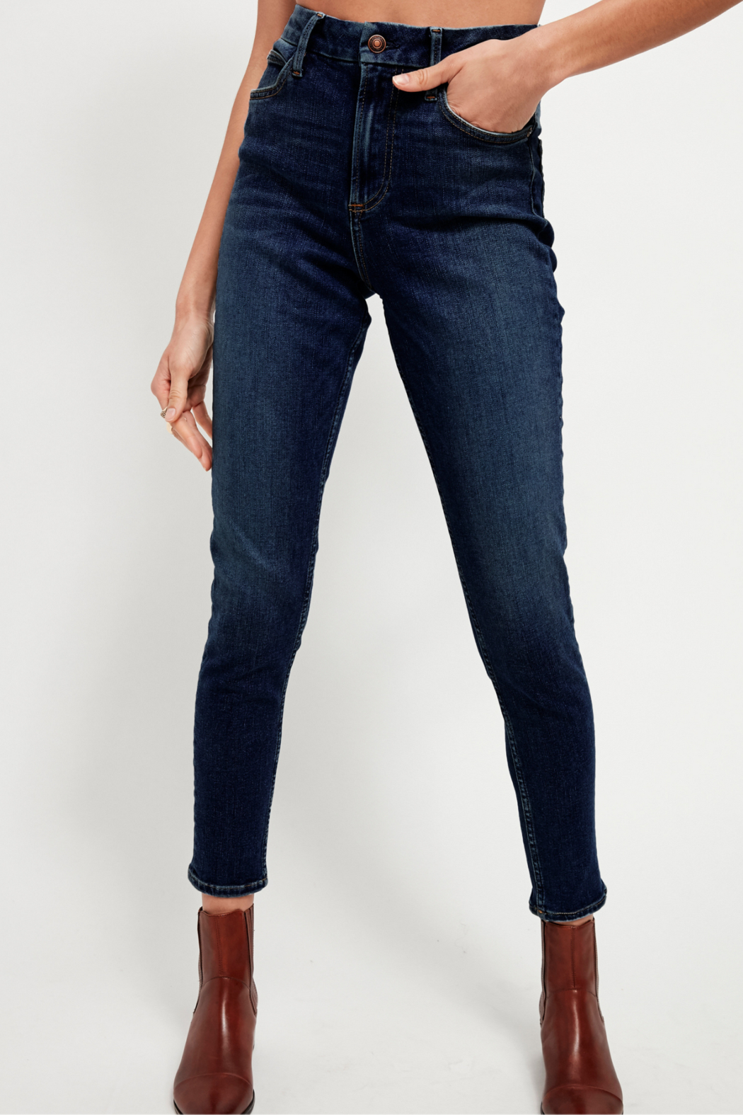 Free People Montana Skinny Jean - Front Cropped Image