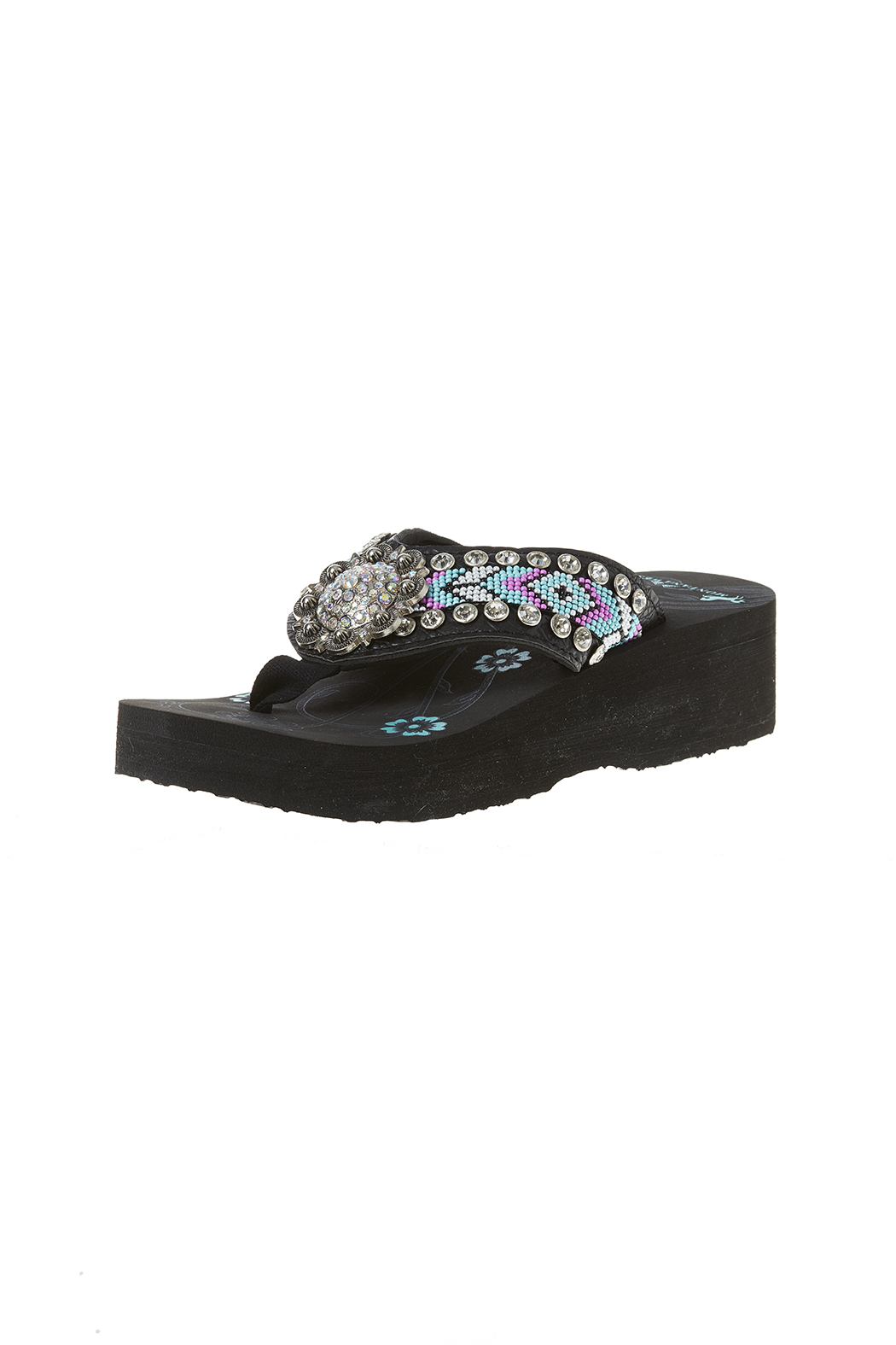 2ce9cad49 Montana West Blue Beaded Flip Flops from Vermont by Sharon s on the ...