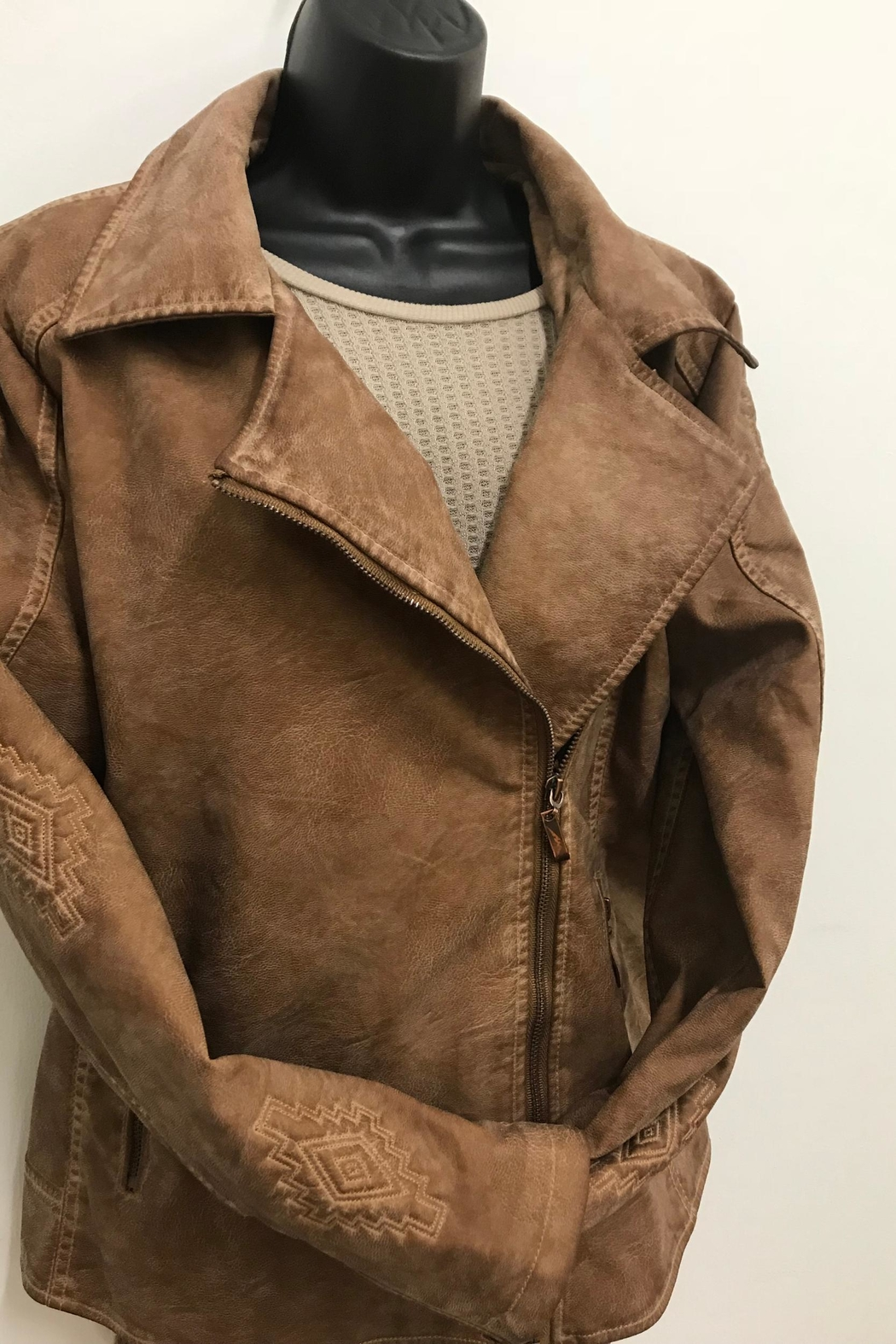 Montanaco Vegan Leather Jacket - Front Full Image
