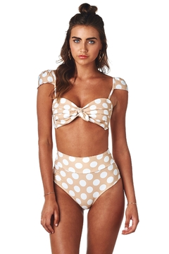 Montce Swim Polka Dot Top - Product List Image