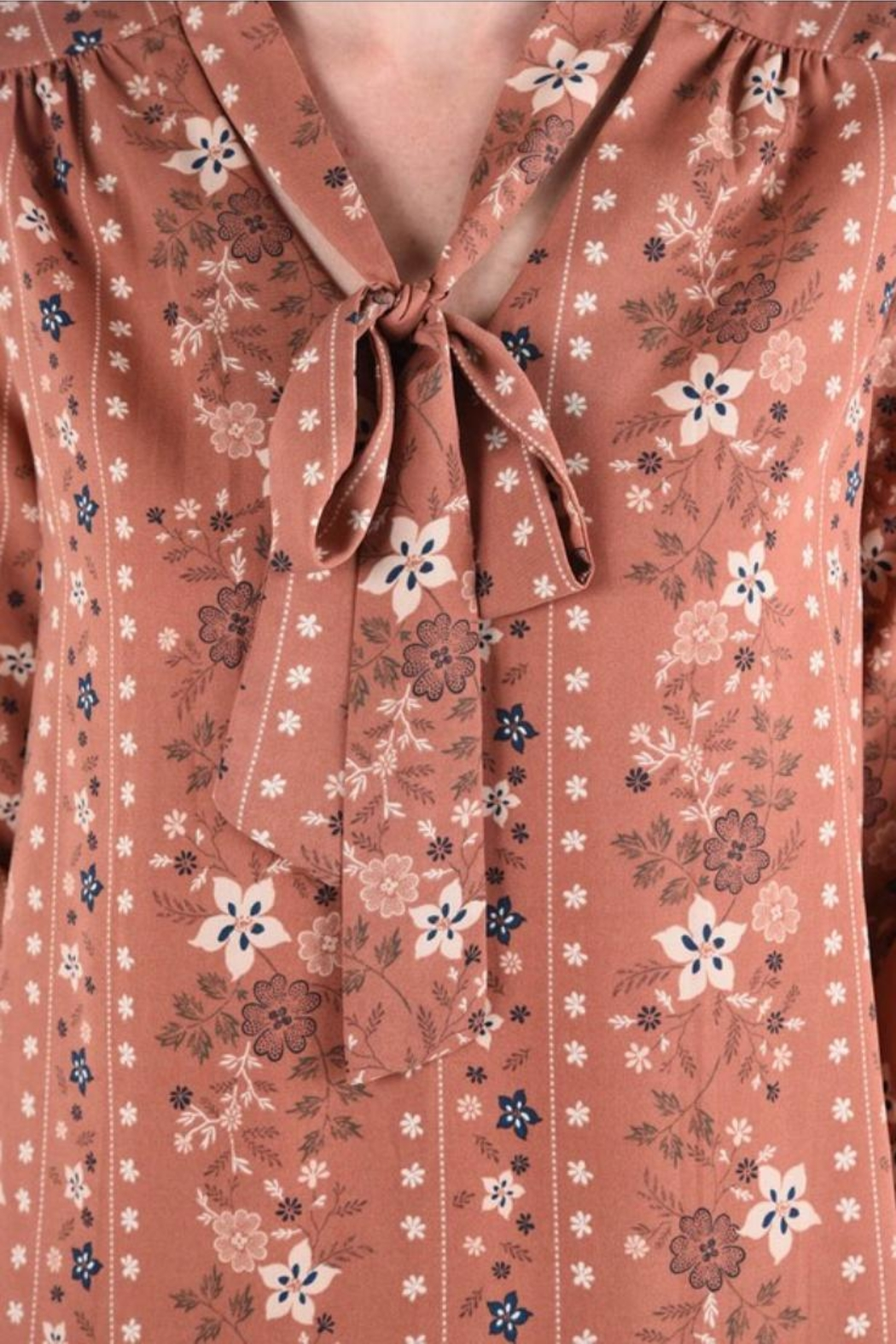 Monteau Floral Top - Front Full Image