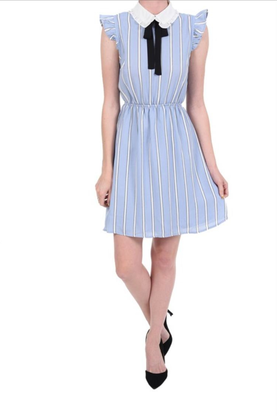 Monteau Stripe Blue Dress - Main Image