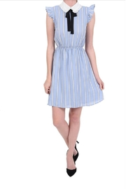 Monteau Stripe Blue Dress - Front cropped