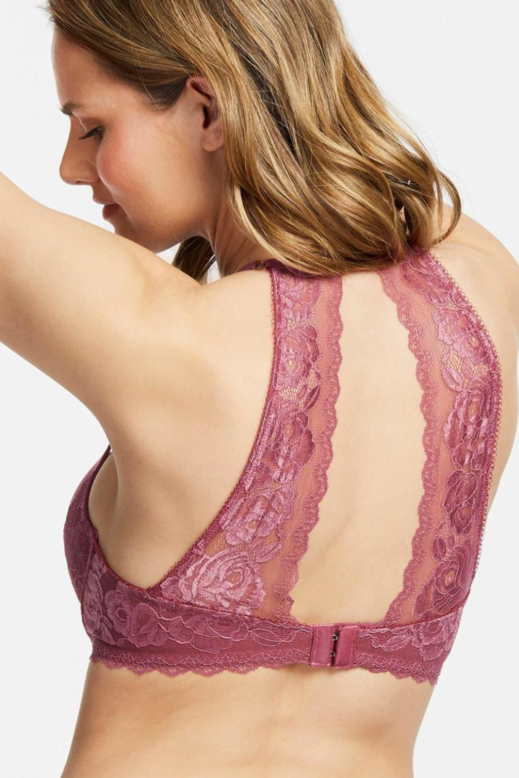 Montelle Intimates Moonlight & Roses Allure Bra - Side Cropped Image