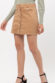 Montez Renault Corduroy Button-Down Skirt - Product Mini Image