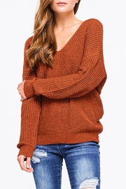 Montez Renault Rust Twist=back Sweater - Side cropped