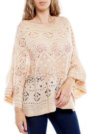 Montez Renault Taupe Bell-Sleeve Top - Front cropped