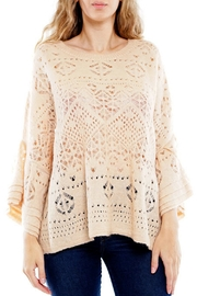 Montez Renault Taupe Bell-Sleeve Top - Side cropped