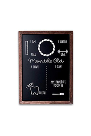 Olive & Emma Monthly Milestones Reusable Chalboard Sign - Product Mini Image