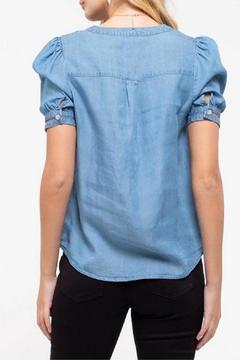 MONTREZ Crochet-Trim Chambray Top - Alternate List Image